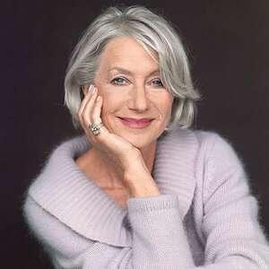 Natural Grey Hair Of Helen Mirren